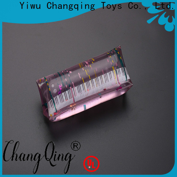 hygienic glitter water tube toy design for students